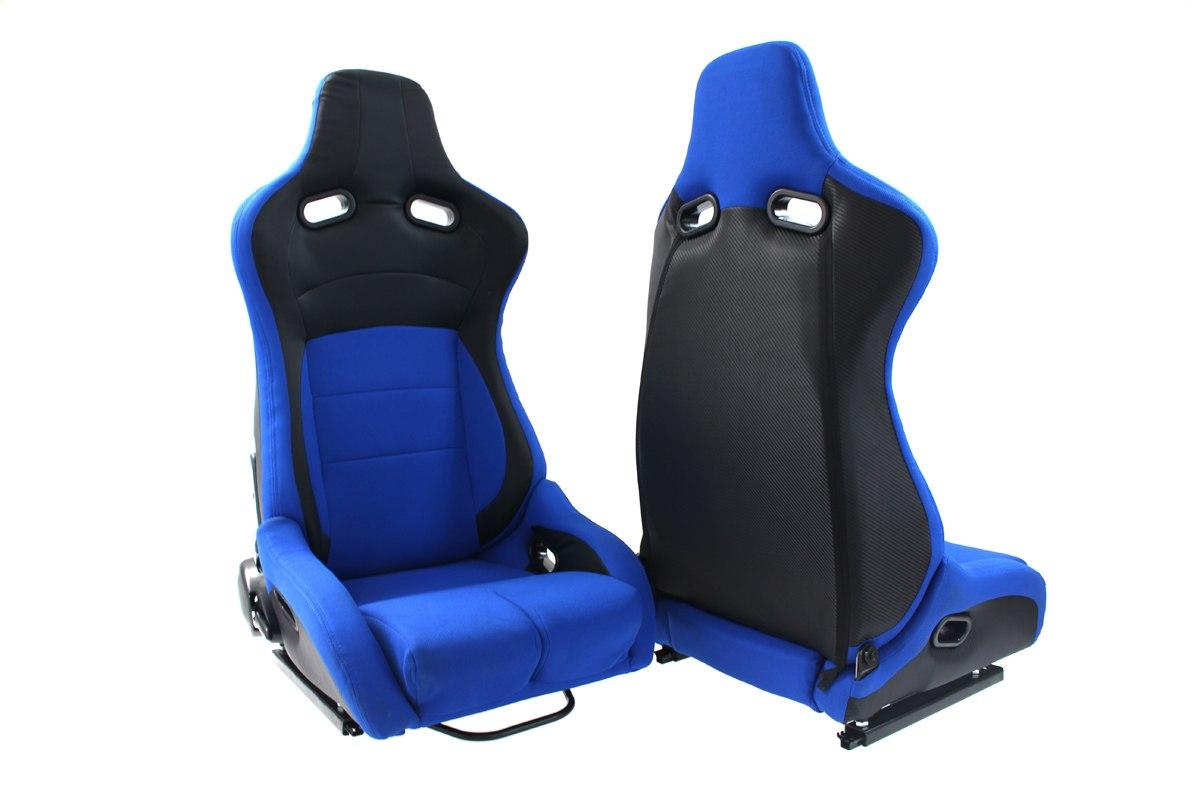 Fotel sportowy Monza Furio Blue - GRUBYGARAGE - Sklep Tuningowy
